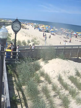 Bethany Beach Boardwalk North Surf Cam