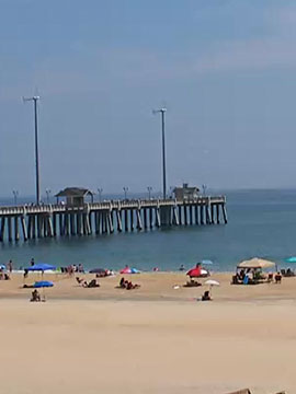 Jennettes Pier Beach Webcam, Nags Head, Outer Banks NC