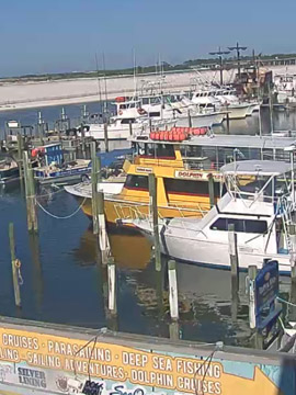 AJ's Dockside Harbor Webcam, Destin Florida