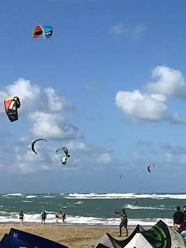 Dare2Fly Cabarete Kiteboarding Webcam Dominican Republic Caribbean Islands