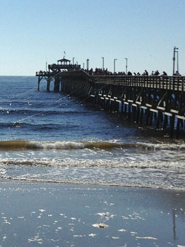 Cherry Grove Pier Surf Cam