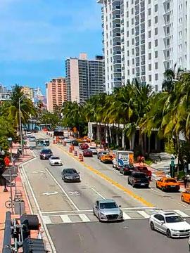 Traffic Cam downtown South Beach / Miami Beach, Florida