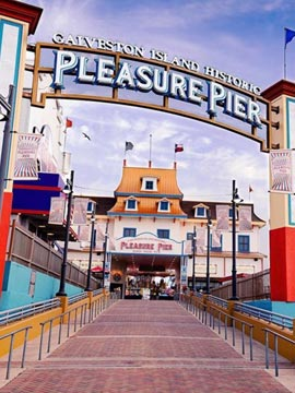 Pleasure Pier Galveston Island Texas Webcam